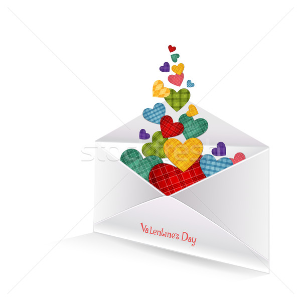 Colored hearts in the envelope Stock photo © user_10003441