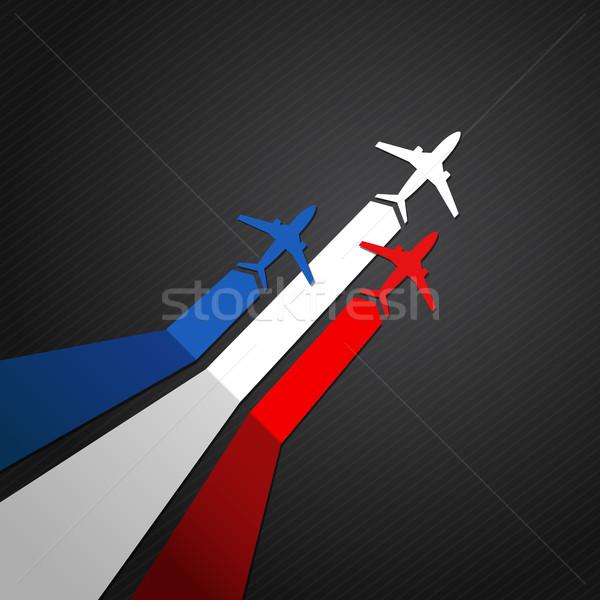フランス 平面 ベクトル フラグ 空 背景 ストックフォト © user_10003441
