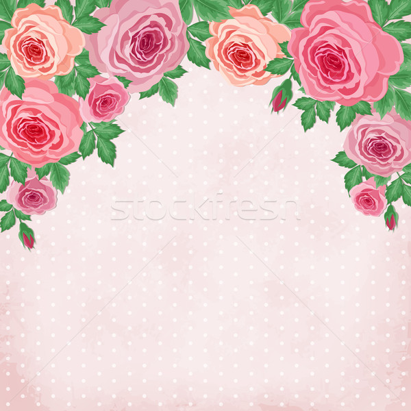 Vintage roses Stock photo © user_10003441