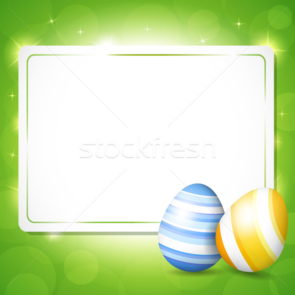 Card for Easter with eggs Stock photo © user_10003441