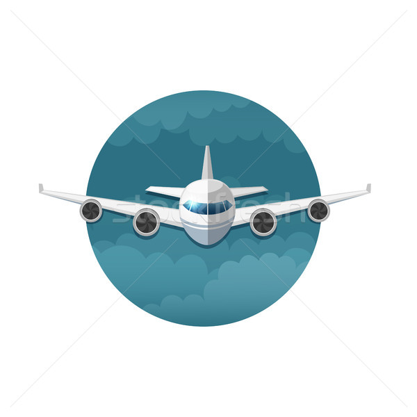 Vector icon of airplane Stock photo © user_10003441