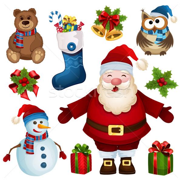 Christmas set Stock photo © user_10003441