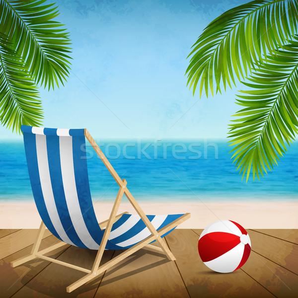 夏休み 夏休み ビーチ 風景 葉 背景 ストックフォト © user_10003441