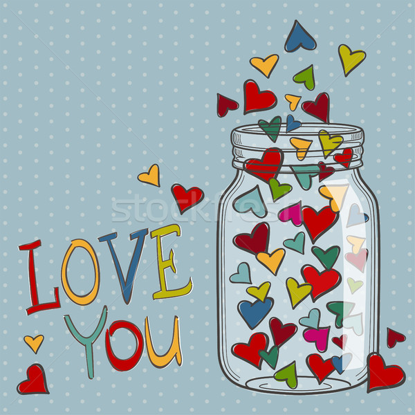 Bright vector hearts for Valentines day Stock photo © user_10003441