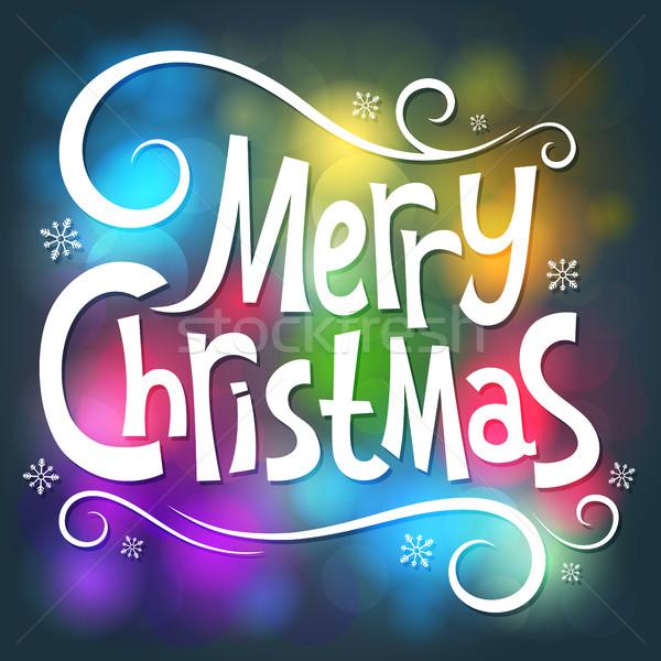 Happy Christmas Stock photo © user_10003441