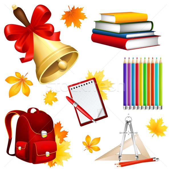 Escolas conjunto diferente caneta lápis educação Foto stock © user_10003441