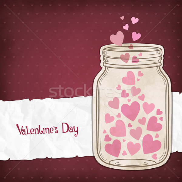 Hearts in a glass jar Stock photo © user_10003441