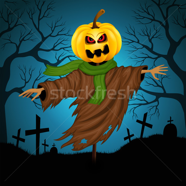 Scarecrow for Halloween Stock photo © user_10003441