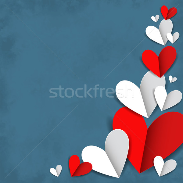 Red and white hearts Stock photo © user_10003441