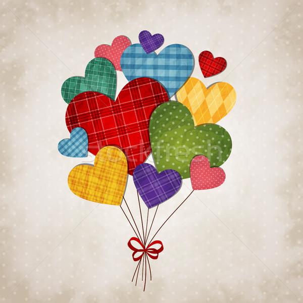 ロマンチックな 中心 心 ヴィンテージ 紙 結婚式 ストックフォト © user_10003441