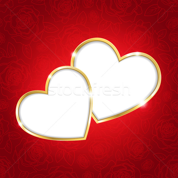 Two hearts on a red background Stock photo © user_10003441