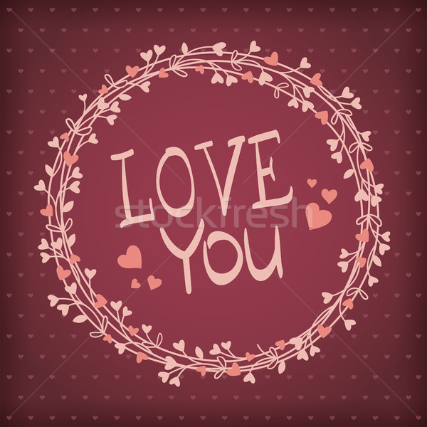Vector background for Valentines day Stock photo © user_10003441