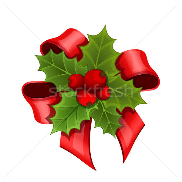 Christmas bouquet of Holly Stock photo © user_10003441