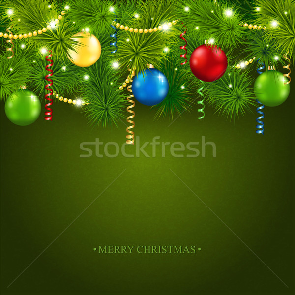 Christmas card with a beautiful tree Stock photo © user_10003441