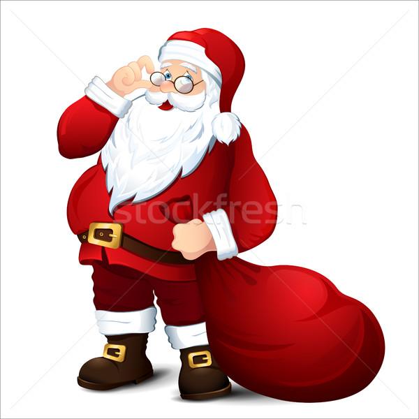 孤立した サンタクロース クリスマス 冬 オブジェクト 祖父 ストックフォト © user_10003441