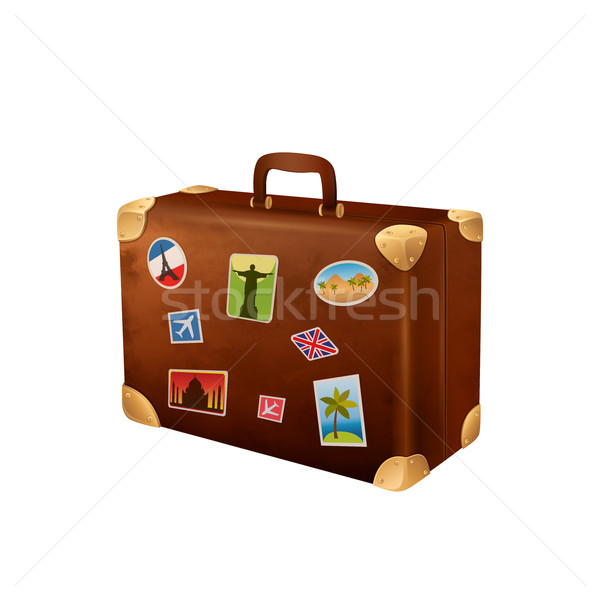 Valigia viaggiatore valigie viaggio valigetta Foto d'archivio © user_10003441