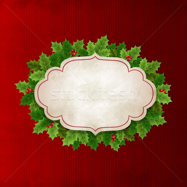 Christmas Holly leaves Stock photo © user_10003441