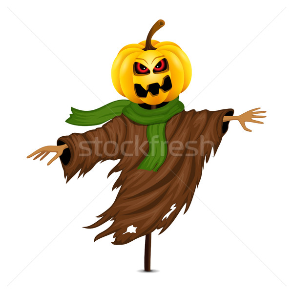 Scarecrow for Halloween isolated Stock photo © user_10003441