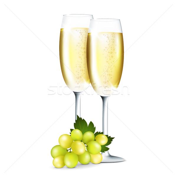 シャンパン 眼鏡 2 白 結婚式 レストラン ストックフォト © user_10003441