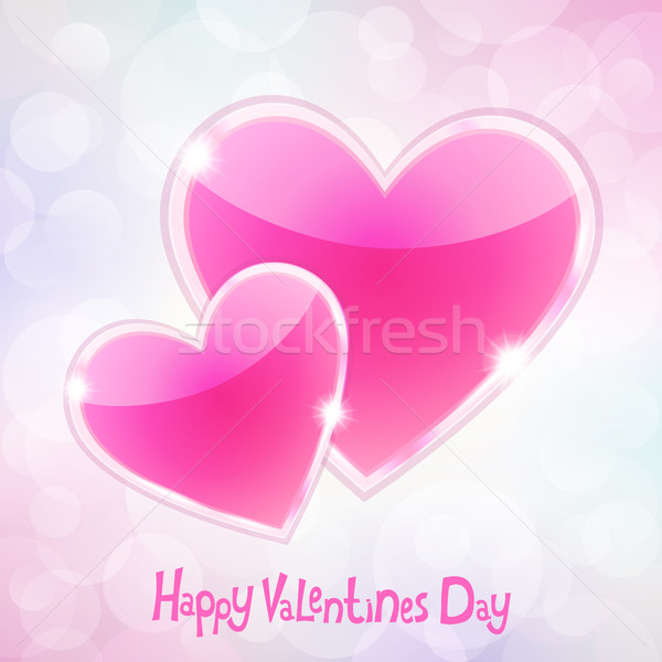幸せ バレンタインデー 日 バレンタイン ピンク 心 ストックフォト © user_10003441