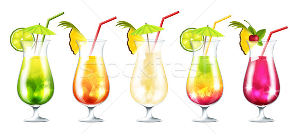 Summer cocktails Stock photo © user_10003441