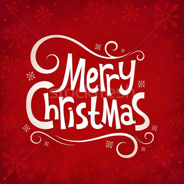 Christmas Rood sneeuwvlokken textuur winter oud papier Stockfoto © user_10003441