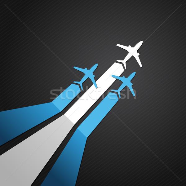 Argentína repülőgép vektor zászló égbolt háttér Stock fotó © user_10003441