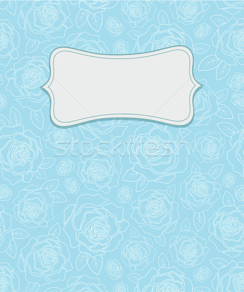 Vector background with roses Stock photo © user_10003441
