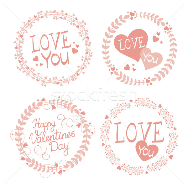 Garland Valentines day Stock photo © user_10003441
