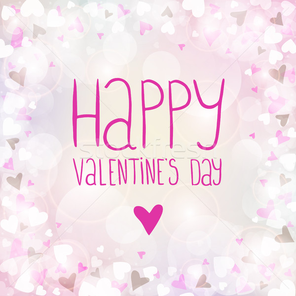 Vector pink background for Valentines day Stock photo © user_10003441