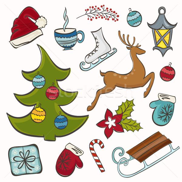 Winter set for design Stock photo © user_10003441
