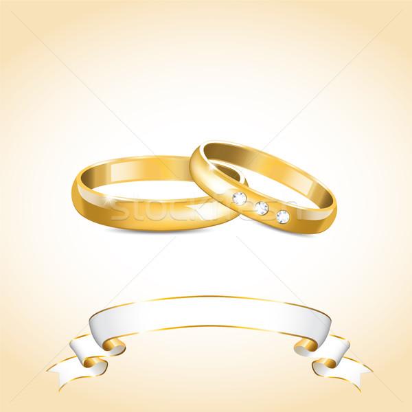 Gold wedding rings Stock photo © user_10003441