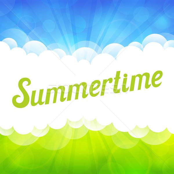 晴れた 美しい 明るい 夏 雲 春 ストックフォト © user_10003441