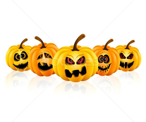 Pumpkin for Halloween isolated Stock photo © user_10003441