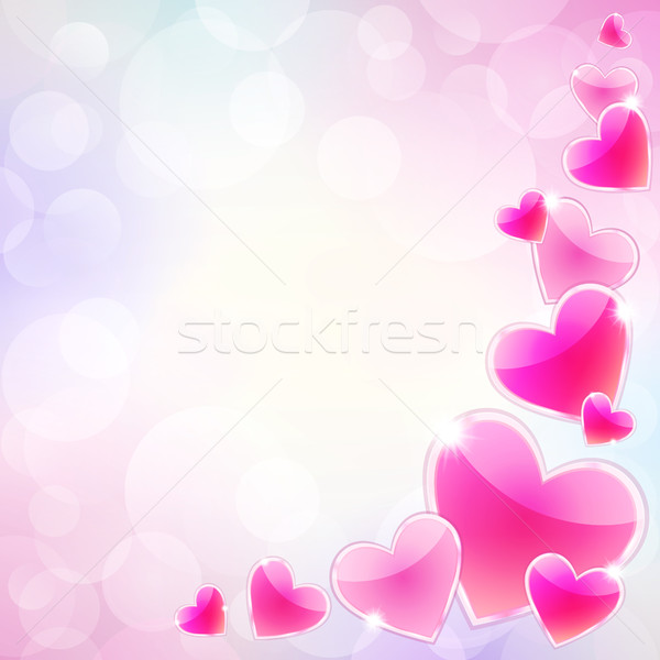 Pink hearts Stock photo © user_10003441