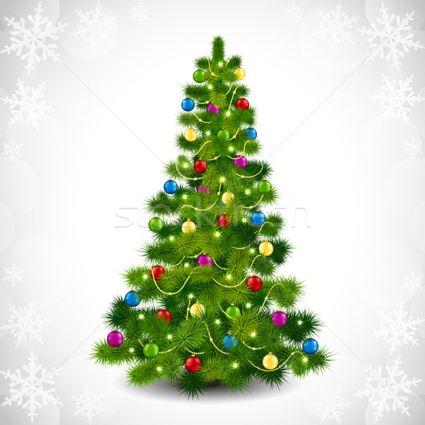 Christmas tree with colored balls Stock photo © user_10003441