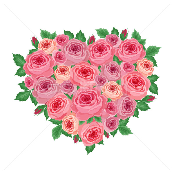 Heart of roses Stock photo © user_10003441