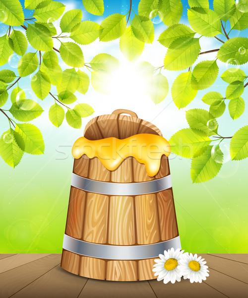 Keg of honey Stock photo © user_10003441