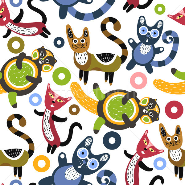 Grappig katten artistiek cute kittens Stockfoto © user_10144511