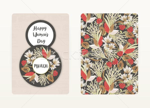 Feliz día de la mujer primavera vacaciones floral Foto stock © user_10144511
