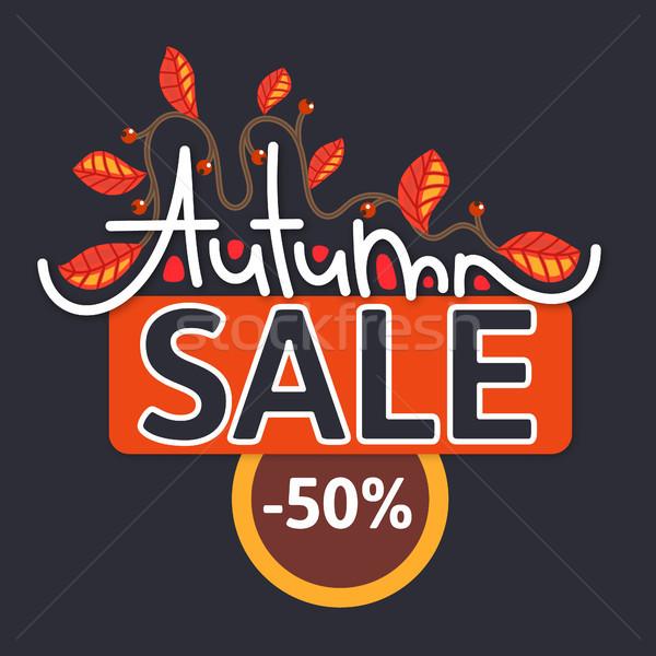 ősz vásár árengedmény ősz ág színes Stock fotó © user_10144511