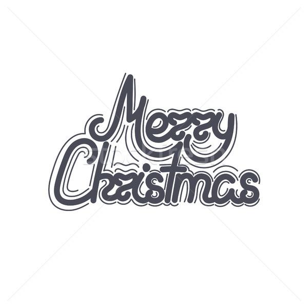 Karácsony karácsony új év ünnep firka kézzel rajzolt Stock fotó © user_10144511