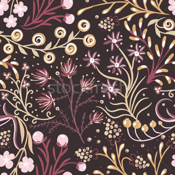 ストックフォト: フローラル · 手描き · 創造 · 花 · カラフル