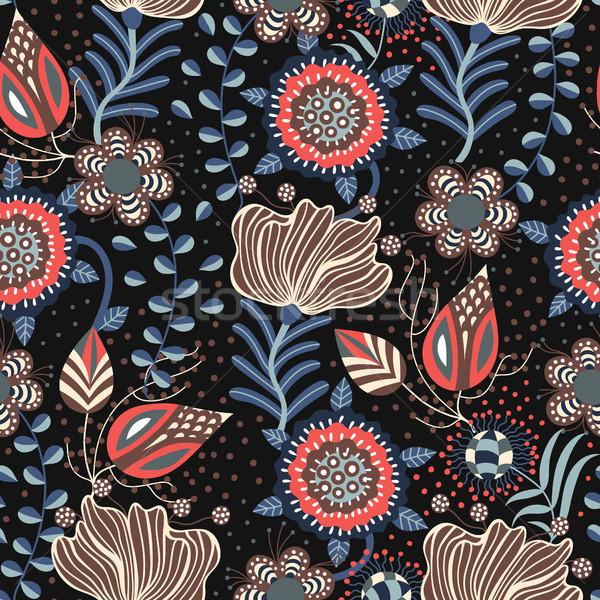 ストックフォト: フローラル · 手描き · 創造 · 花 · スタイル