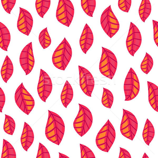 Floral seamless pattern with fallen leaves. Autumn. Leaf fall. Colorful artistic background. Can be  Stock photo © user_10144511