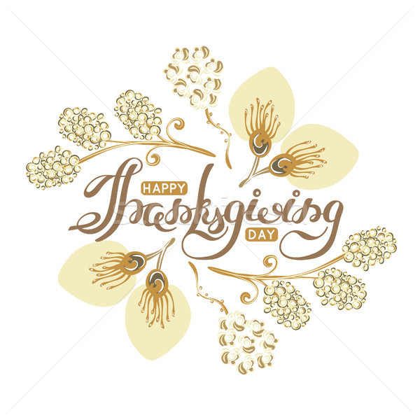 Happy Thanksgiving Day. Lettering. Autumn holiday Stock photo © user_10144511
