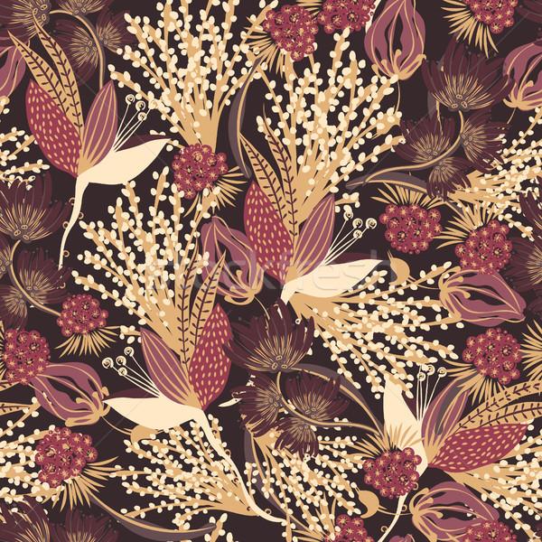フローラル 手描き 創造 花 カラフル ストックフォト © user_10144511