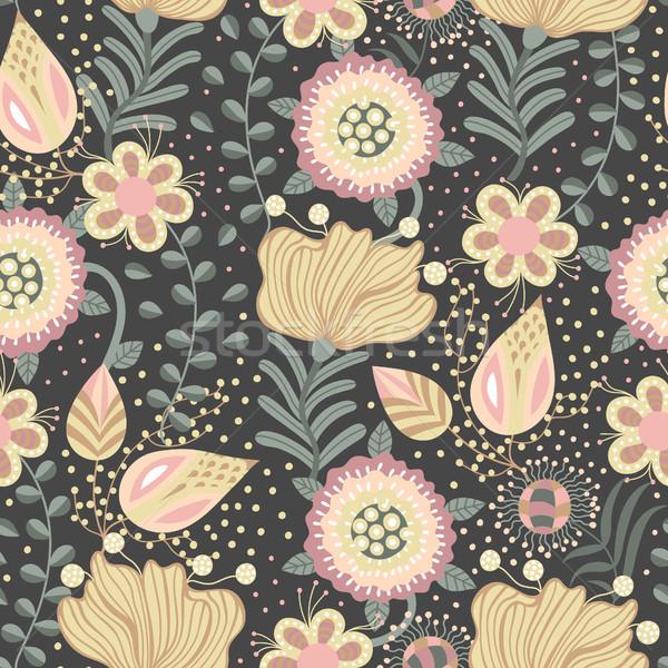 フローラル 手描き 創造 花 スタイル ストックフォト © user_10144511
