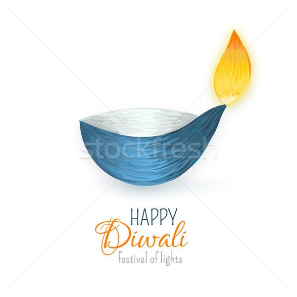 Feliz diwali indio festival luces celebración Foto stock © user_10144511