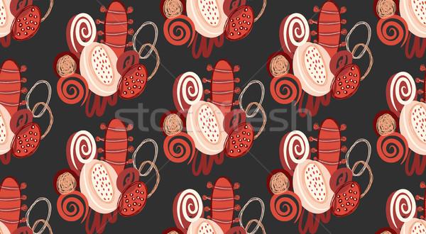 Vektor végtelen minta kézzel rajzolt absztrakt formák foltok Stock fotó © user_10144511